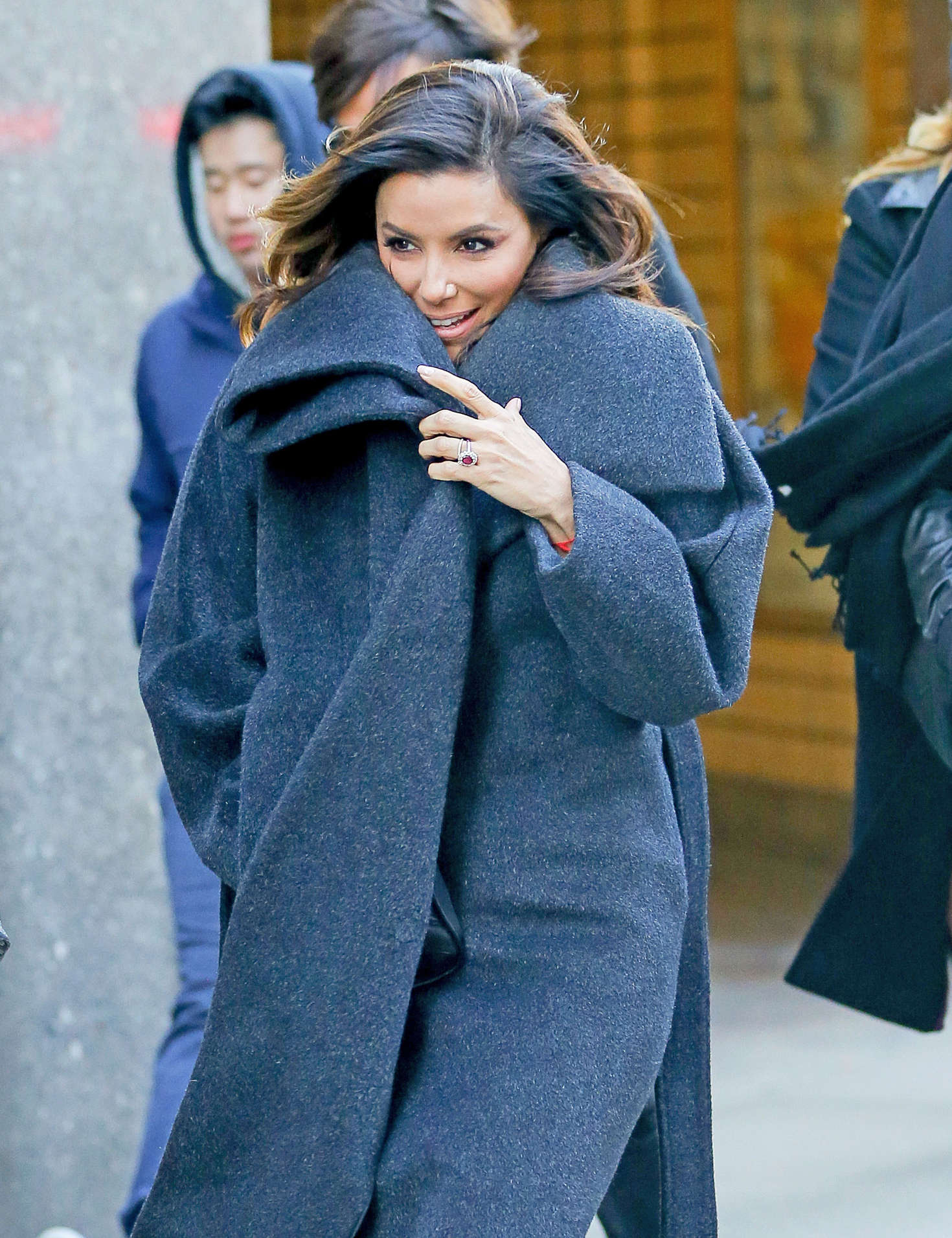 Eva Longoria - Leaves Oceana Restaurant in NYC