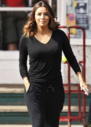 Eva Longoria - Leaves 'Overboard' Set in Vancouver