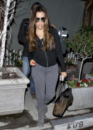 Eva Longoria Leaving a Ken Paves Salon in West Hollywood