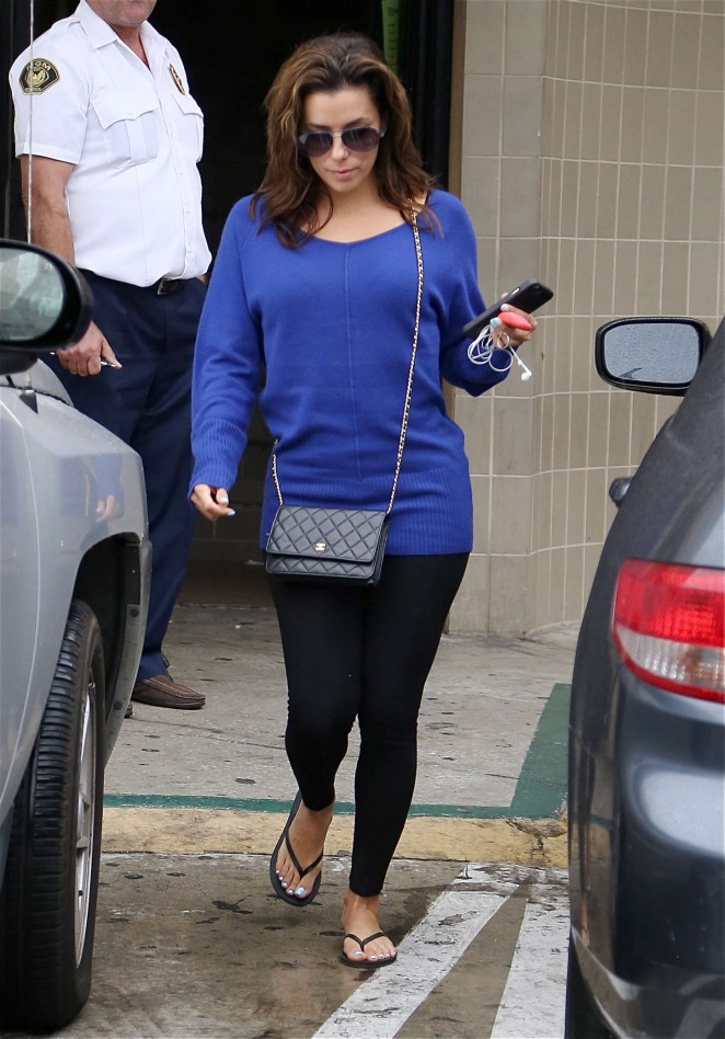 Eva Longoria - Leaving a salon in LA