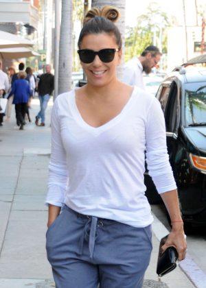 Eva Longoria Leaving Anastasia Spa in Beverly Hills