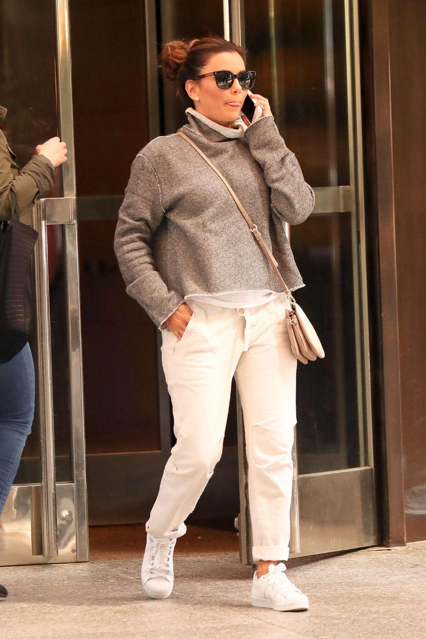 Eva Longoria - Leaving her hotel in New York