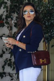 Eva Longoria - Leaving Sunset Towers in Los Angeles