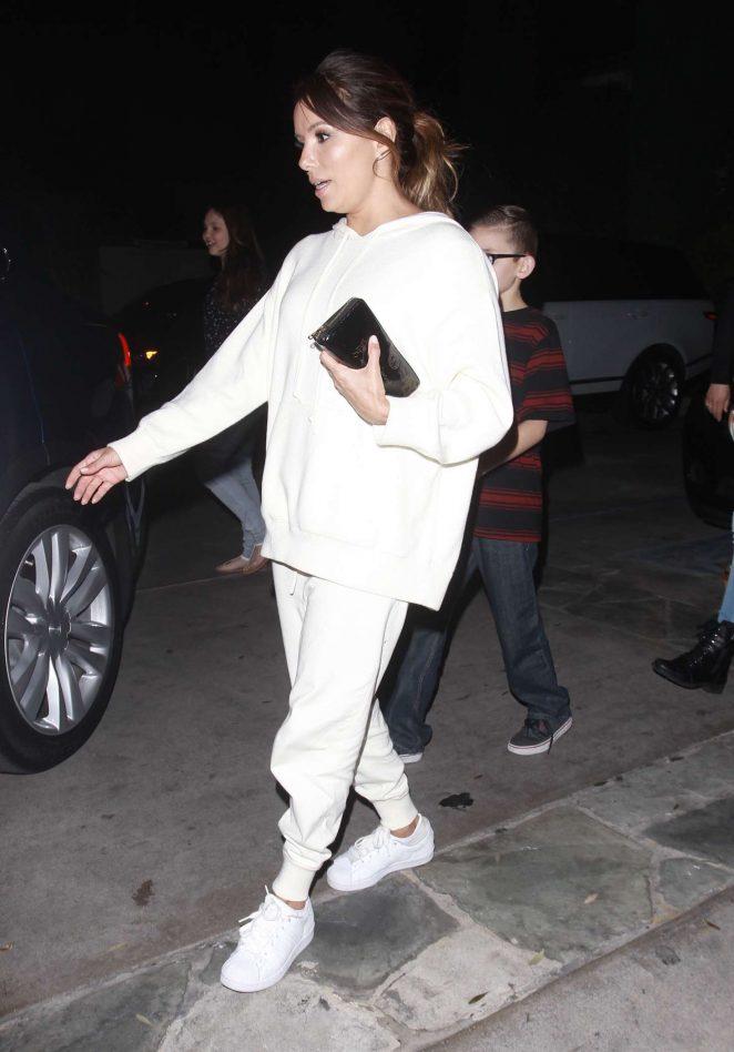 Eva Longoria Leaving the Ago Restaurant in Los Angeles