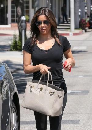 Eva Longoria - Leaving the Ken Paves Salon in West Hollywood