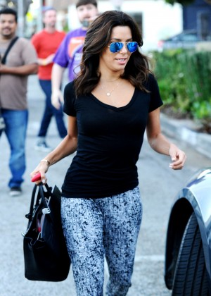 Eva Longoria - Leaving the Ken Paves Salon in West Hollywood