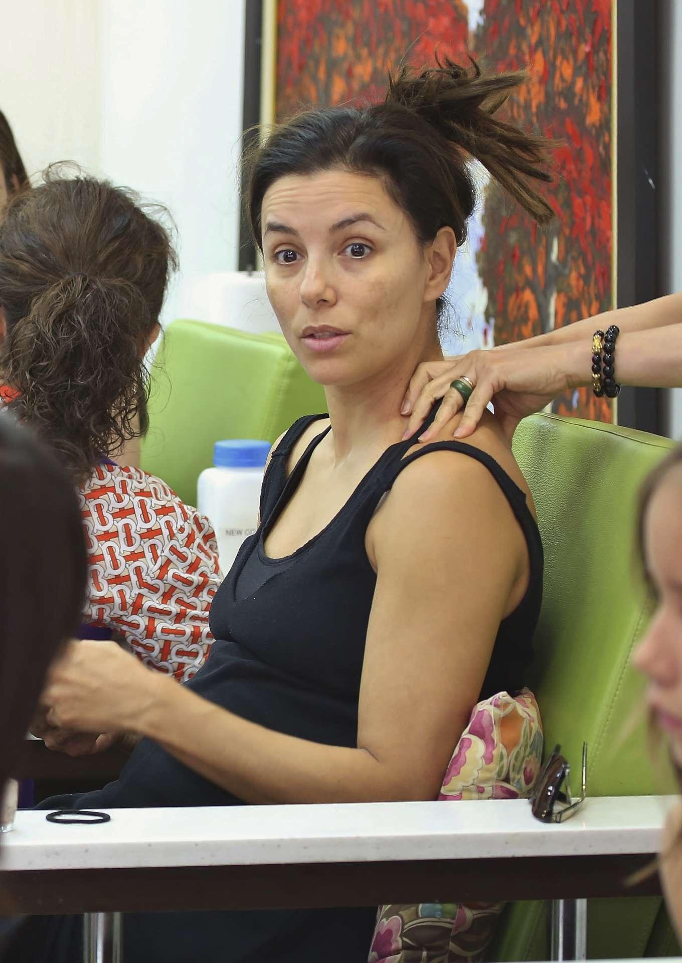 Eva Longoria - On a massage in Los Angeles
