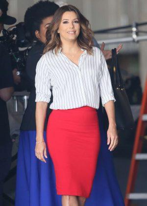 Eva Longoria on set of Fox's new television show Type A in LA