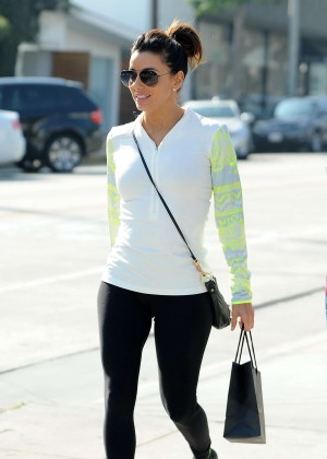 Eva Longoria in Spandex Out for lunch in Los Angeles