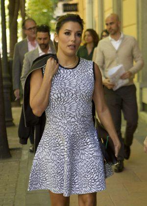Eva Longoria out in Madrid
