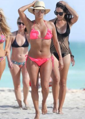 Eva Longoria in Pink Bikini -10