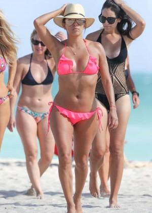 Eva Longoria in Pink Bikini -49