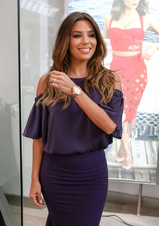 Eva Longoria - Promotes Her New Watch Line in Miami
