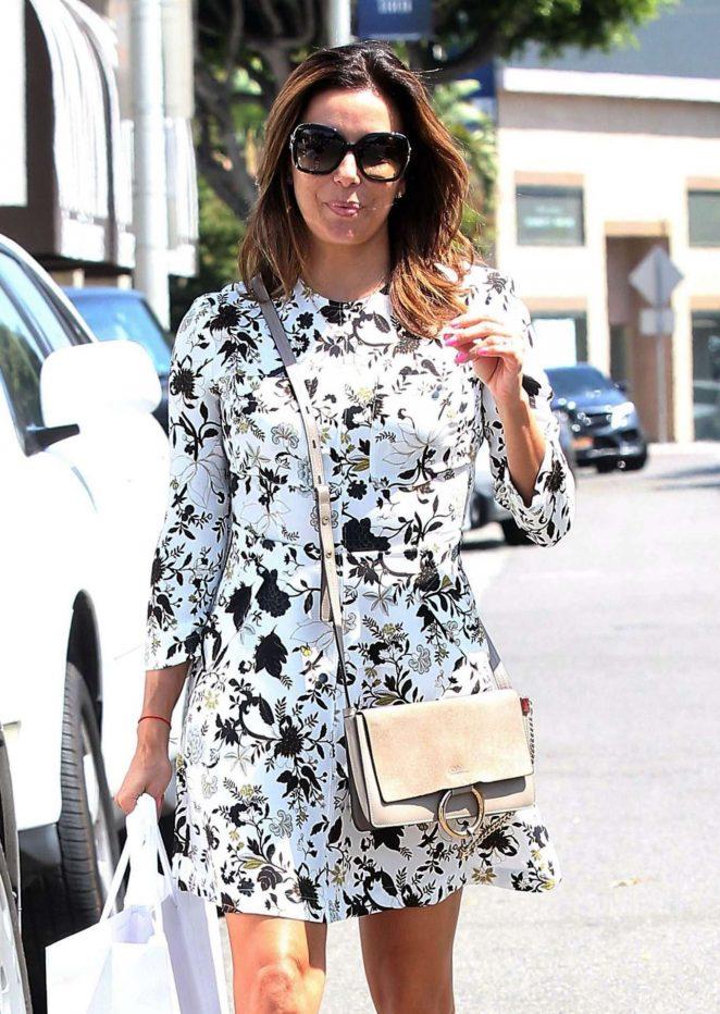 Eva Longoria - Shopping at Intermix in West Hollywood
