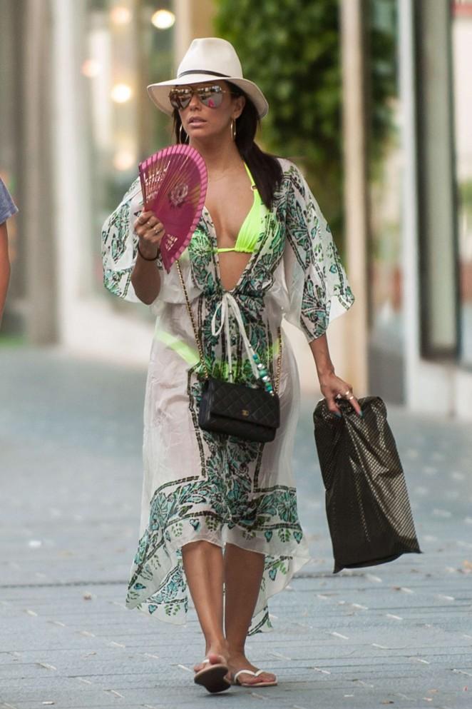 Eva Longoria - Shopping in Marbella