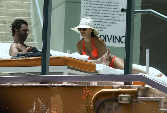 Eva Longoria in Orange Bikini -13