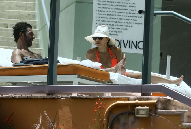 Eva Longoria in Orange Bikini -16