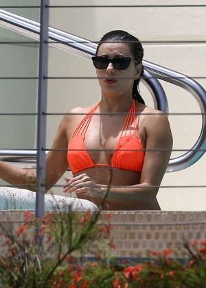 Eva Longoria in Orange Bikini -37
