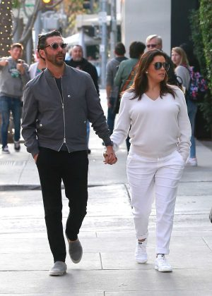 Eva Longoria with her husband out in Beverly Hills