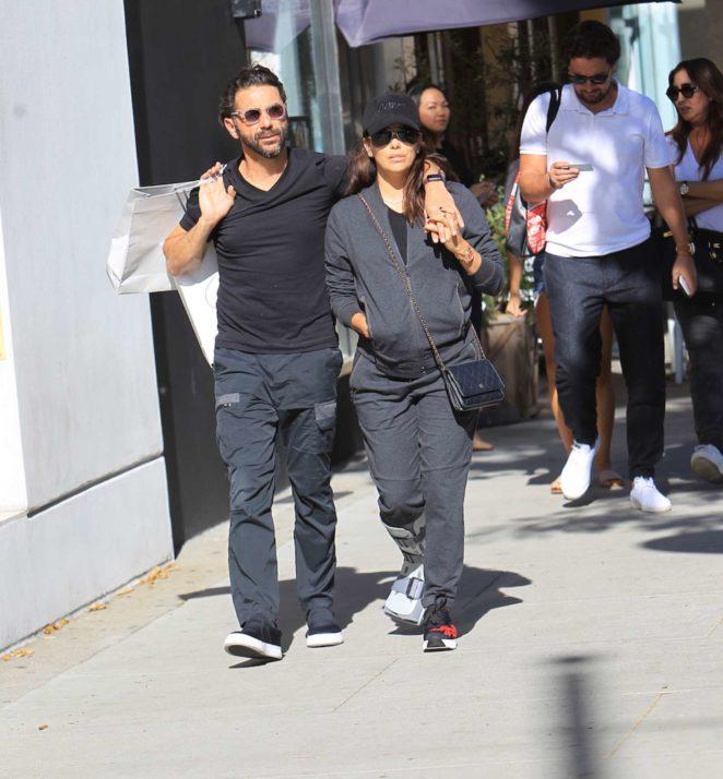 Eva Longoria with Jose Baston shopping -03