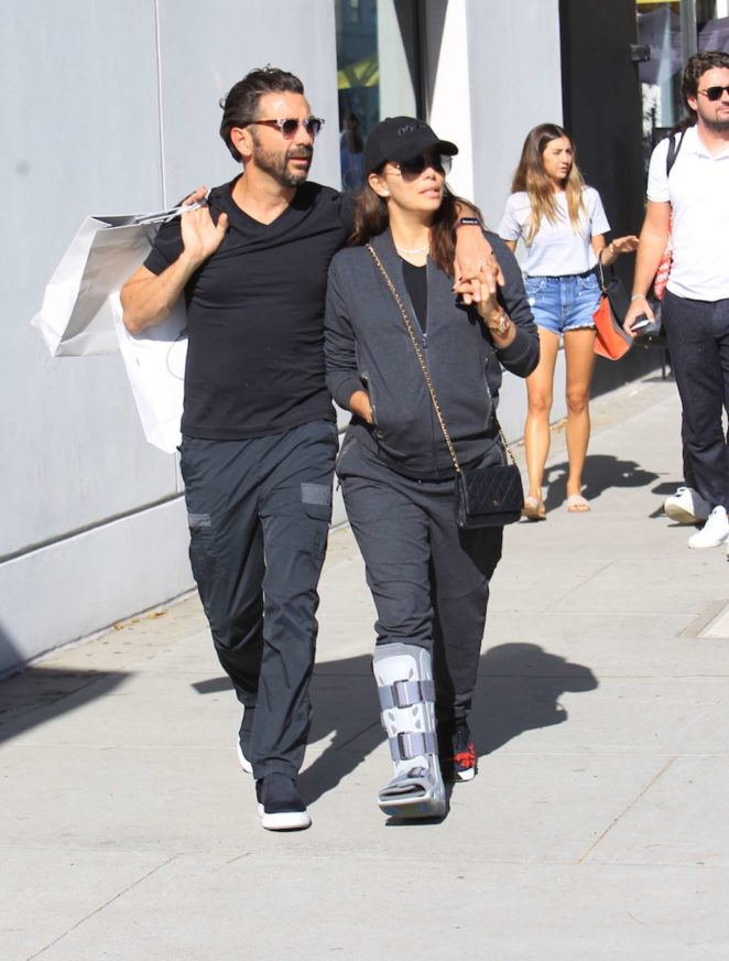 Eva Longoria with Jose Baston shopping in Beverly Hills