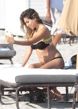 Eva Marcela in Bikini on the beach in Miami
