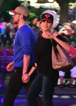 Eva Mendes and Ryan Gosling have a date night at Disneyland