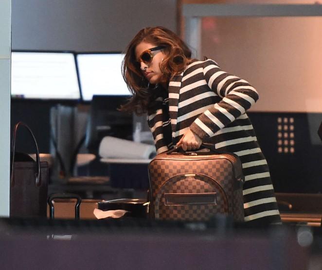 Eva Mendes at JFK Airport -11