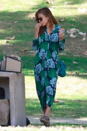 Eva Mendes - Attends a birthday party in LA
