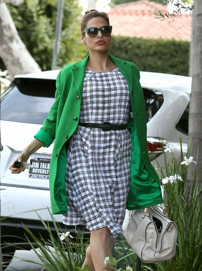 Eva Mendes - Leaving a salon in LA
