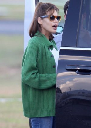 Eva Mendes seen flying into Atlanta