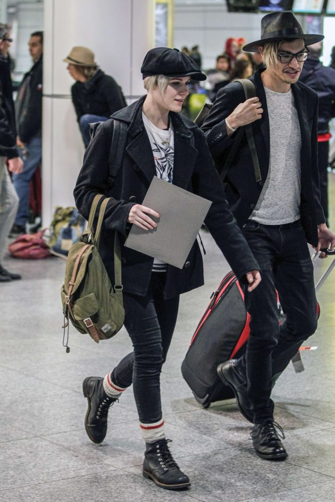 Evan Rachel Wood and Boyfriend Zach Villa at an Airport in Montreal
