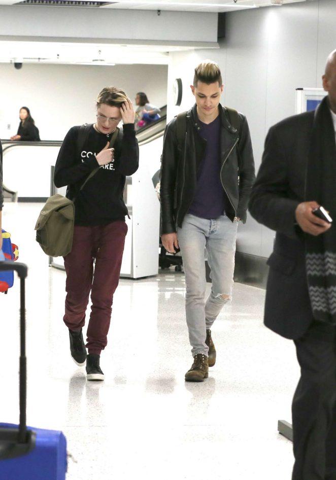 Evan Rachel Wood Arrives at LAX Airport in Los Angeles