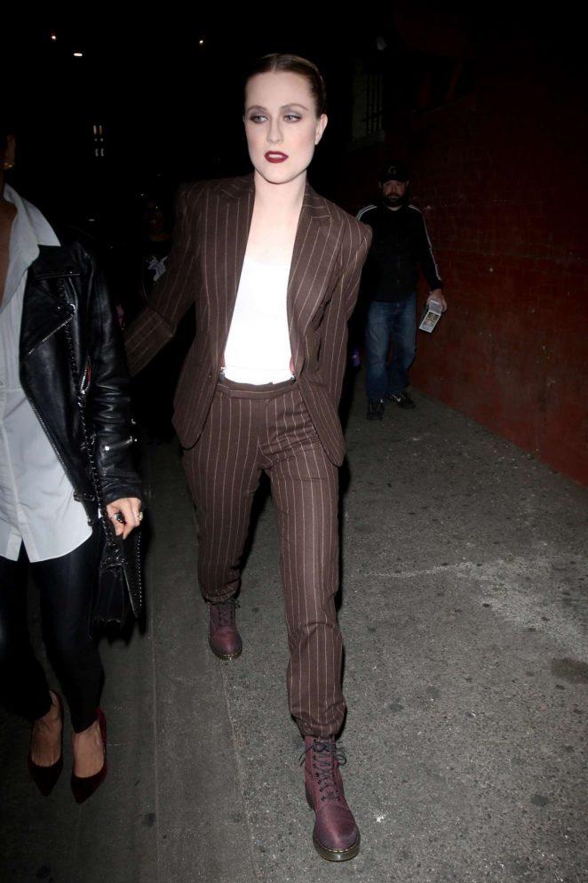 Evan Rachel Wood - Arrives for her concert in Los Angeles