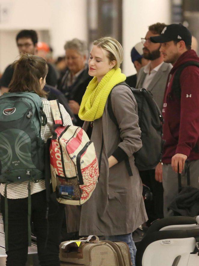 Evan Rachel Wood - Arrives in Los Angeles