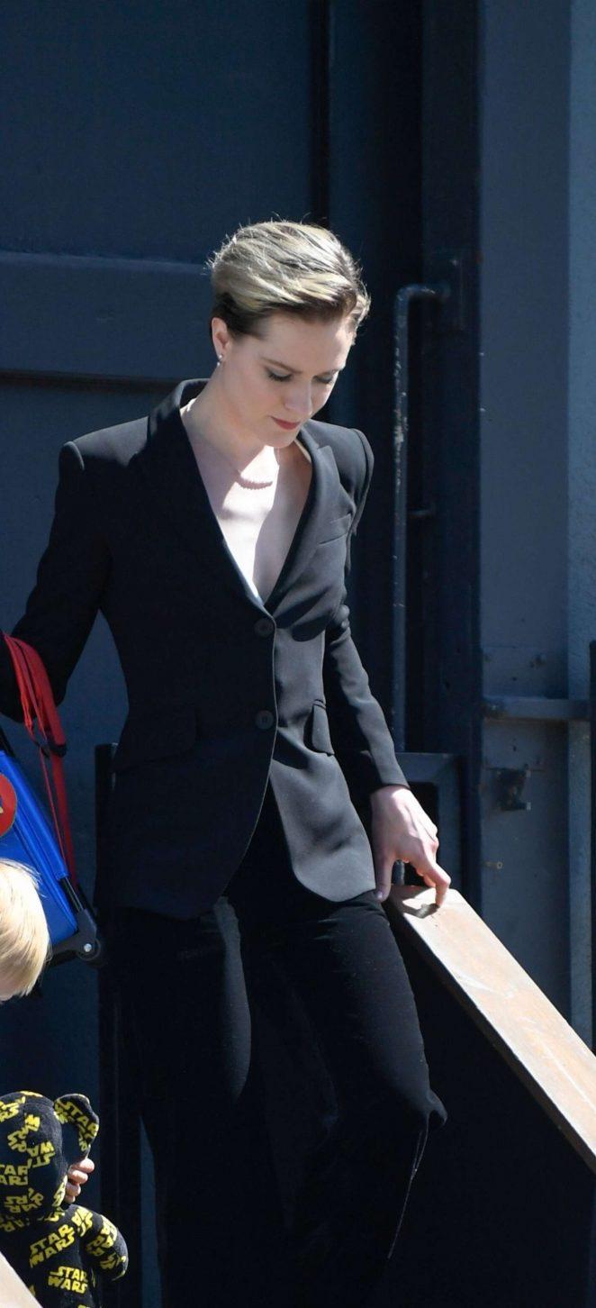 Evan Rachel Wood - Leaves a Studio in Los Angeles