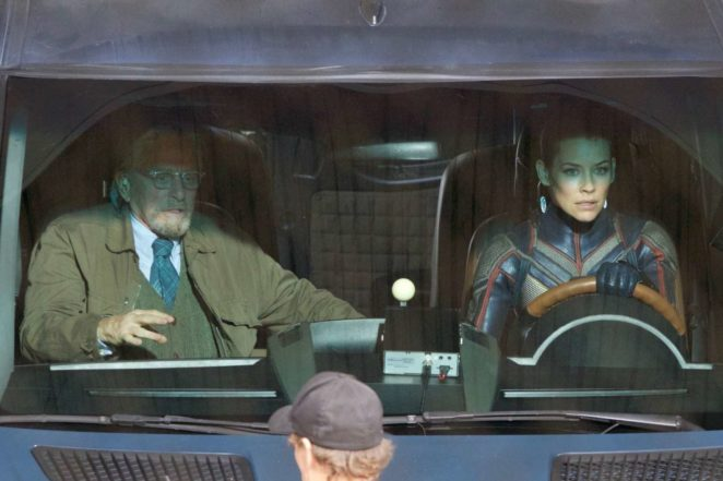 Evangeline Lilly and Michael Douglas on 'Ant-Man and The Was' set in Atlanta