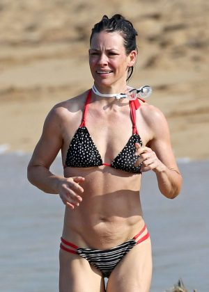 Evangeline Lilly in Bikini at a beach in Hawaii
