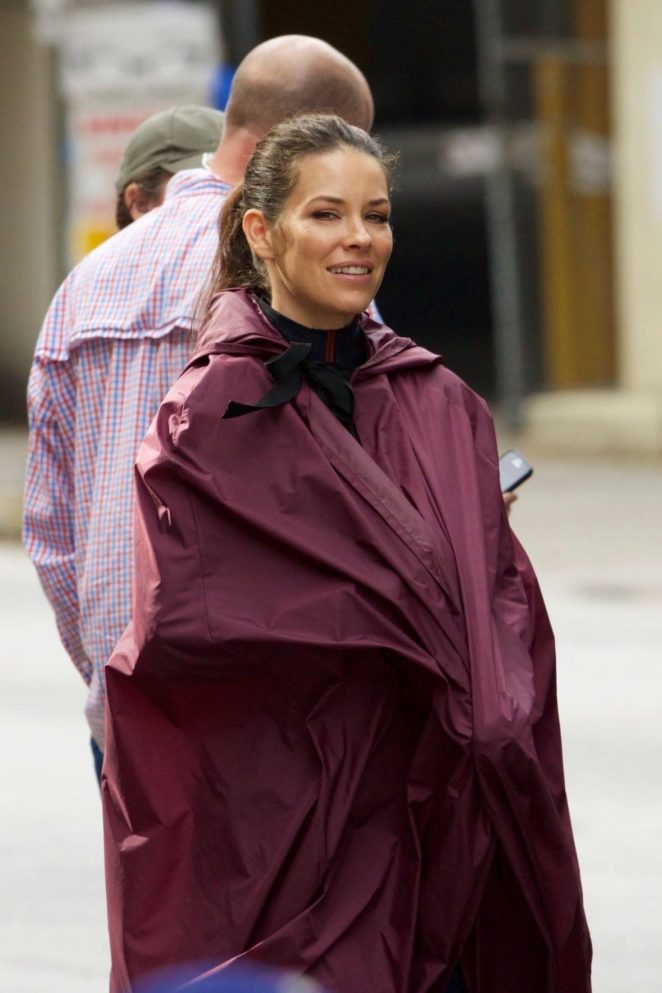 Evangeline Lilly - On the set of 'Ant-Man And The Wasp' in Atlanta
