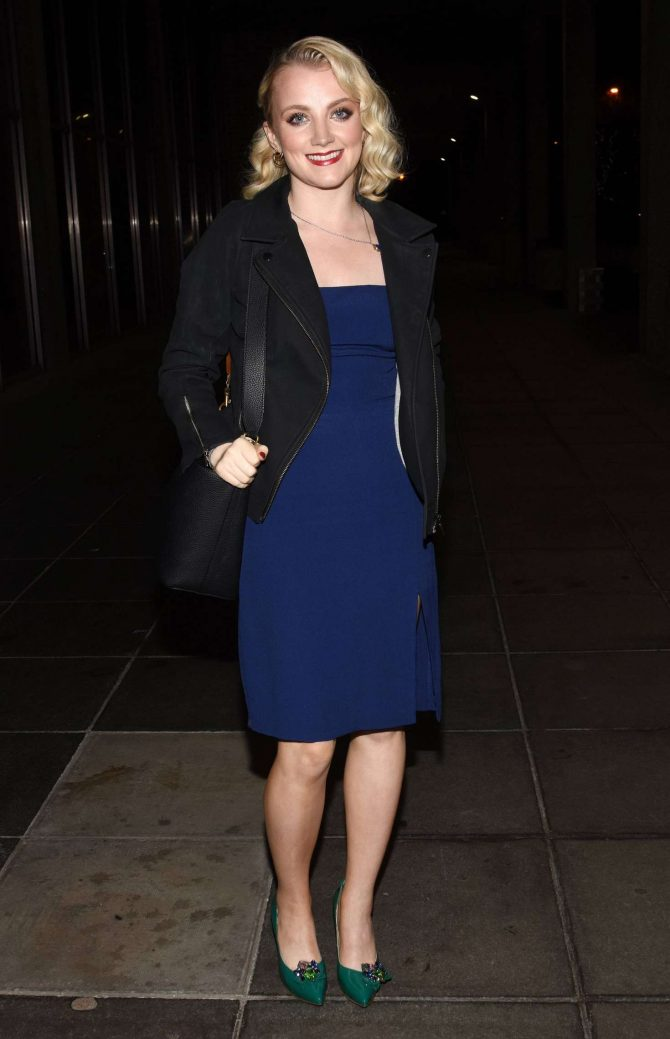 Evanna Lynch - Arrives at the Late Late Show in Dublin