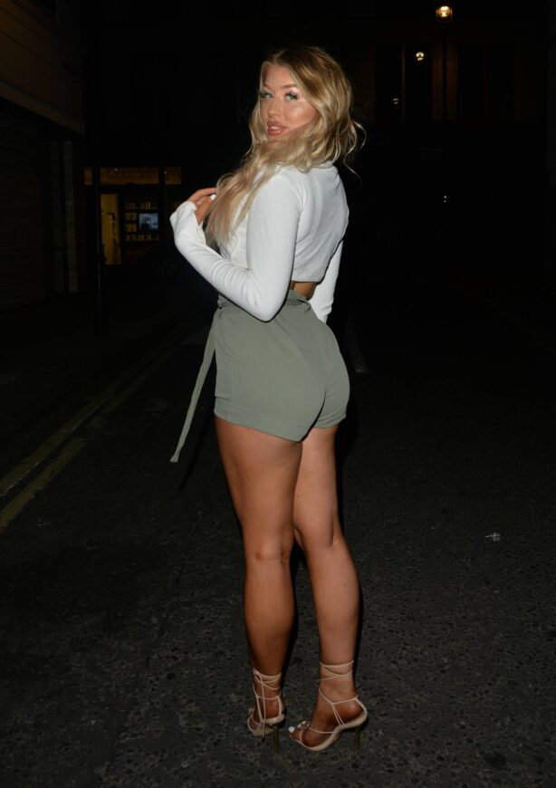 Eve Gale - Night out at Maddox roof bar in London