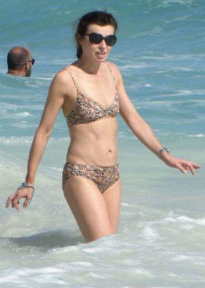 Eve Mavrakis in Bikini at the beach in Cancun