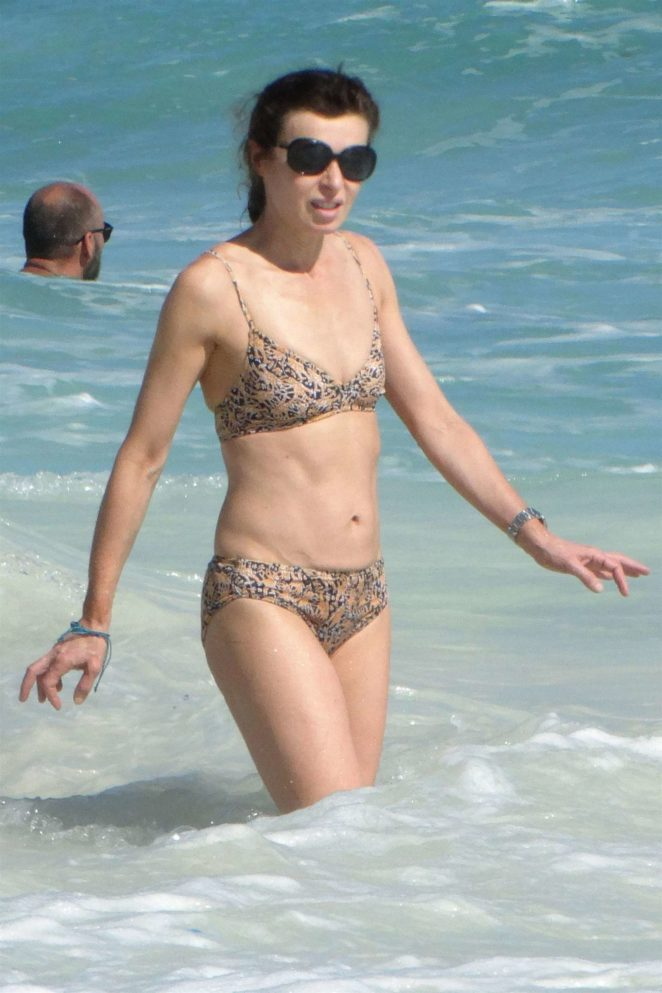 Eve Mavrakis in Bikini at the beach in Cancun