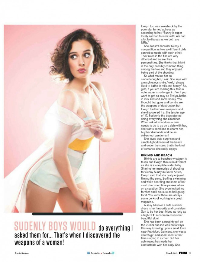 Evelyn Sharma: FHM India 2015 -02