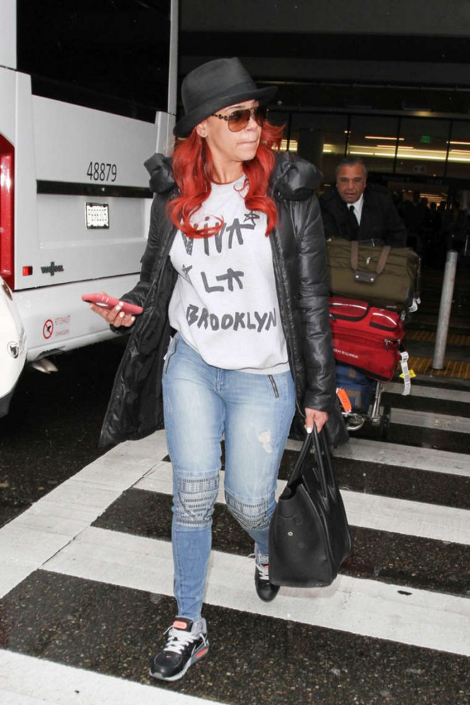 Faith Evans at LAX Airport in Los Angeles