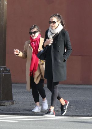 Famke Janssen and Madeleine Martin - Leaving a gym in NYC