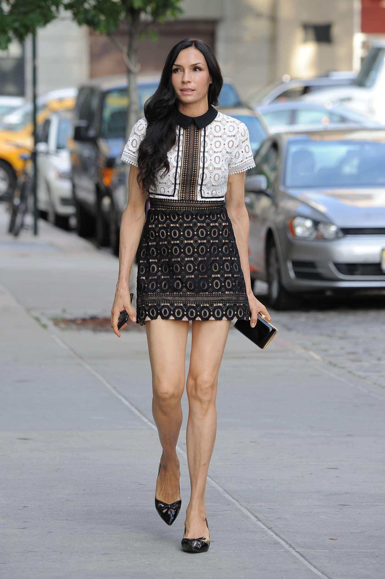 Mini Of Manhattan >> Famke Janssen in Mini Dress -02   GotCeleb