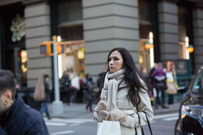 Famke Janssen - Leaves Dean and Deluca in NYC