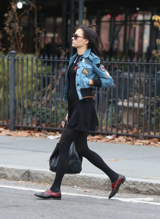 Famke Janssen - Leaving the gym in New York