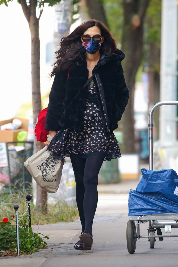 Famke Janssen - Look stylish while out in NYC